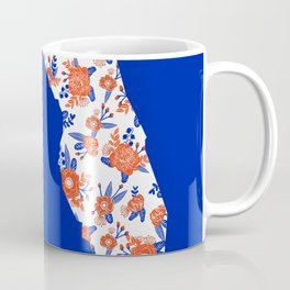 Florida fan gators university orange and blue team spirit football college sports floral Coffee Mug