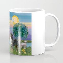 Saint Francis Blesses a Bernes Mountain Dog Coffee Mug