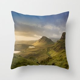 Sunrise Over the Quiraing III Throw Pillow