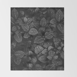 The Plant (Black and White) Throw Blanket