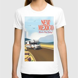 """New Mexico Travel poster. """"Book a trip today"""" T-shirt"""