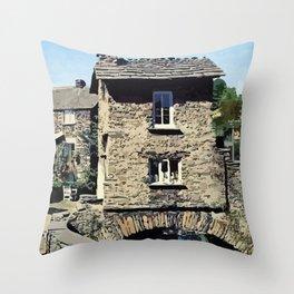Old Bridge House Ambleside Cumbria England Throw Pillow