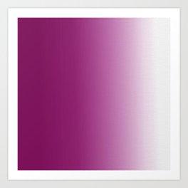 Ombre in Purple White Art Print