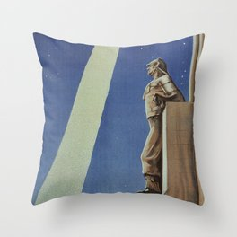 Trieste art deco Italian travel ad Throw Pillow