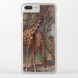 Vintage Giraffe Painting (1909) Clear iPhone Case