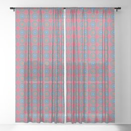 Spinners Pattern Sheer Curtain