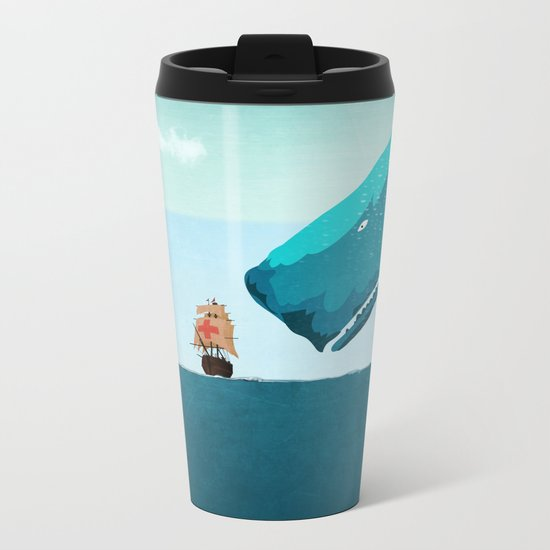 Whale Metal Travel Mug