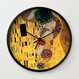 The Kiss - For Interracial Couples Wall Clock