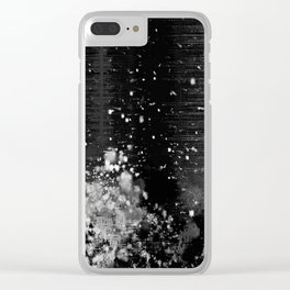 Snow Bank Clear iPhone Case