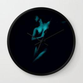 Vintage Nude : Teal Wall Clock