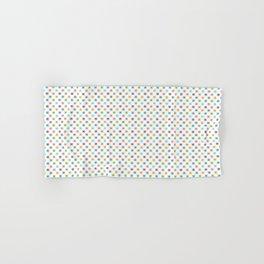 Colorful Dot Squares. 80s Comeback Hand & Bath Towel