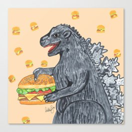 Zilla Burger Canvas Print