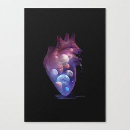 Heart Planets Canvas Print