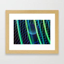 Behind the light glass ball Framed Art Print