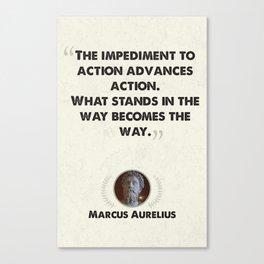 Marcus Aurelius on Obstacles Canvas Print