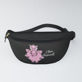 I love Animal Cute Pig Piglet animal welfare tee Fanny Pack