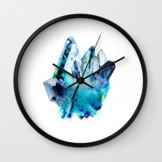 Watercolor Gemstone Wall Clock