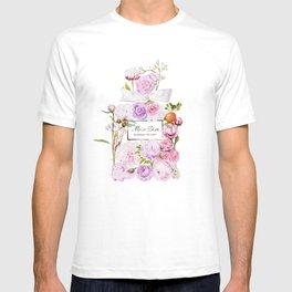 Parfum Perfume Fashion Floral Flowers Blooming Bouquet T-shirt
