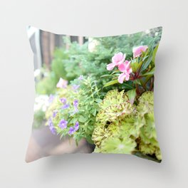 window flower Throw Pillow