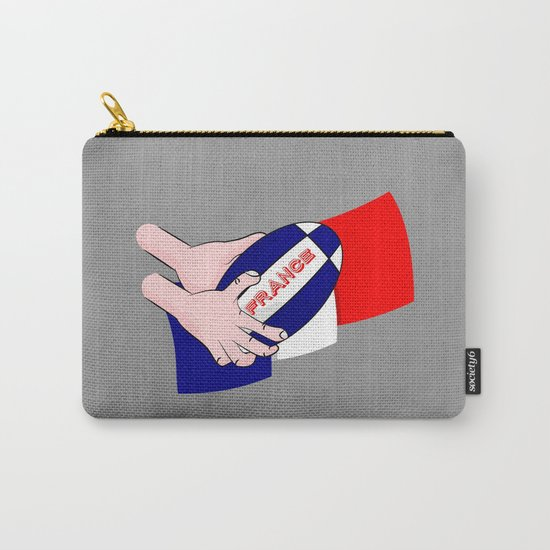 France Rugby Ball Flag Carry-All Pouch