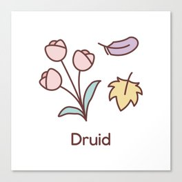 Cute Dungeons and Dragons Druid class Canvas Print