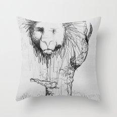 Lion Tree Throw Pillow
