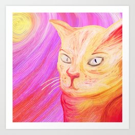 Aristocrat Cat  Art Print