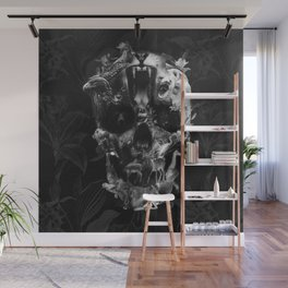 Kingdom Skull B&W Wall Mural
