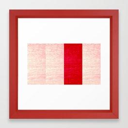 Red On Grain Framed Art Print