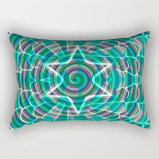 Green spiral abstraction Rectangular Pillow