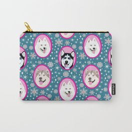 Husky, Samoyed, Malamute // Dog sled team// Year of the dog Carry-All Pouch