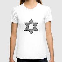 jewish T-shirts featuring Star of David (Jewish star) by ZannArt Originals