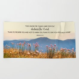 Jeremiah 29:11 Beach Towel