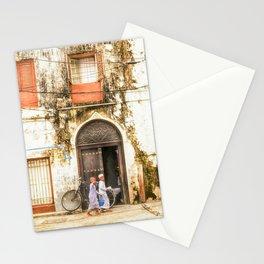 Kids walking in StoneTown Zanzibar 3620 Stationery Cards