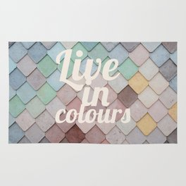 Talkers #4 Live in clolours Rug