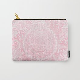 Medallion Pattern in Blush Pink Carry-All Pouch