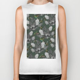 Hummingbirds and Bees (don't let them fade away) Biker Tank