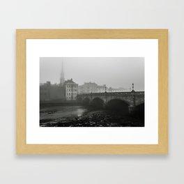 Map Posts Framed Art Print