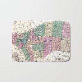 Vintage Map of New York City (1868) Bath Mat