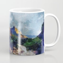Milky Way rising over the Watchman in Zion National Park Coffee Mug