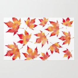 Maple leaves white Rug