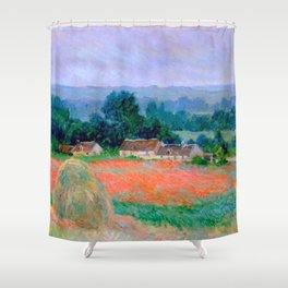 Haystack at Giverny - Claude Monet 1886 Shower Curtain