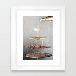 champagne supernova Framed Art Print