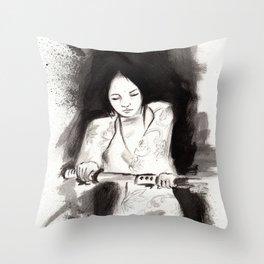 Derrotar al enemigo (Sketch version) Throw Pillow