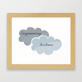 """I'm Engineering. She's Biochem."" Framed Art Print"