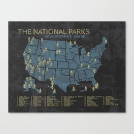 The National Parks: Adventurer's Guide Canvas Print