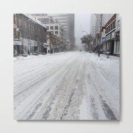 Toronto Snow Storm  Metal Print