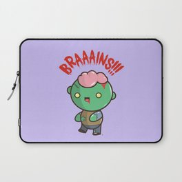 Zombie Kawaii | BRAAAINS!!!! BRAINS!! Halloween Laptop Sleeve