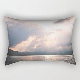 sunset on the Hudson Rectangular Pillow