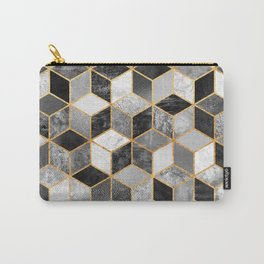 Black & White Cubes Carry-All Pouch